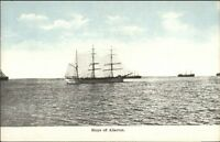 Ships Off of Allerton MA c1910 Postcard