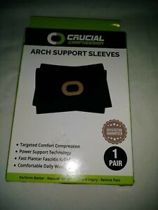 Crucial Compression Arch Support Sleeves L/XL Black #O2A.    L
