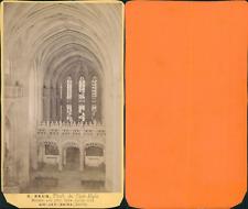 France, Bourg-en-Bresse, Eglise Saint-Nicolas-de-Tolentin de Brou, nef et jubé,