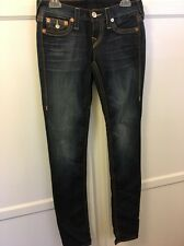 True Religion Skinny Old Multi Jeans With Flap Pockets Size 28 NWOT