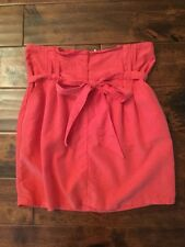 Kimchi And Blue Anthropologie Red Paper Bag Skirt, Size 6
