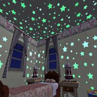 Luminous Wall Sticker Moon Star Glow in the Dark Art Home Decor Kids Room DIY
