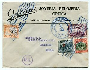 El Salvador cover San Salvador to Grenchen Switzerland 10.7.1934