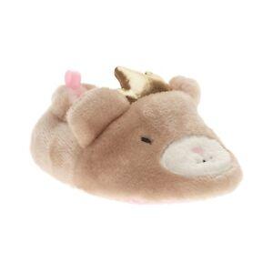 Walmart Brand Infant Girls Princess Bear Slippers Shoes Size 4 New