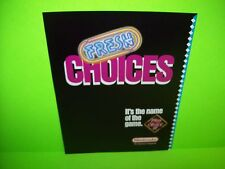 Nintendo PLAY CHOICE 10 Fresh Choices 1988 Original Video Arcade Game Sale Flyer