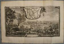 BREST-LITOWSK BELARUS RUSSIA 1696 PUFENDORF ANTIQUE COPPER ENGRAVED CITY VIEW