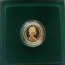 1980 BOXED PROOF FULL GOLD SOVEREIGN IN MINT CONDITION + CAPSULE & CERTIFICATE