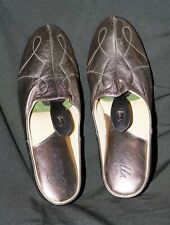 BELLA DI NOTTE BRAND NEW BRONZE LEATHER SLIPPERS /  MULES Size 7/41