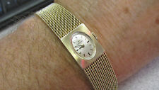 """Estate Woman's Omega Watch with Mesh Band  Mechanical """"wind up""""  Make Offer"""