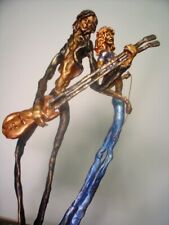 LED ZEPPELIN'S JIMMY PAGE/ROBERT PLANT Modern abstract bronze sculptures-NR