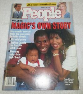 ☆ PEOPLE WEEKLY Magazine - MAGIC JOHNSON - October 19, 1992 - Magic's Own Story