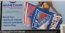 NHL NWT BEACH TOWEL 30x60 - NEW YORK RANGERS
