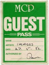 Altered Images De Montfort Hall, Leicester peel off backstage pass 27/5/82