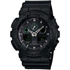 BRAND NEW CASIO G-SHOCK GA100MB-1A BLACK ANA-DIGI RESIN MENS WATCH NWT!!!