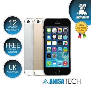 📱 Apple iPhone 5S - 16 GB Grey White Gold Unlocked Phones + Accessories  📱