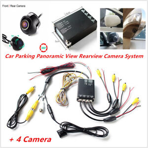 Auto Car Parking Panoramic View Rearview Camera System 360° View + 4PCS Cameras