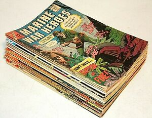 35 DC & CHARLTON Comics WAR / MILITARY LOT, Marine Heroes GI Our Fighting Forces