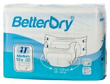 BetterDry Discreet Overnight Heavy Incontinence Briefs Adult Diapers S, M, L, Xl