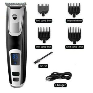 Rechargeable Electric Hair Clippers Cordless Trimmer Beard Shaver Powerful Gift