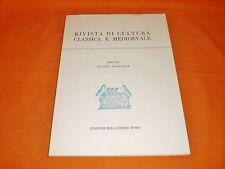 rivista di cultura classica e medievale 1/73 anno XV