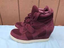 EUC ASH COOL BIS 40 US 9.5 -10 Women High Top Ankle Wedge Heels Sneaker Shoes A6