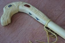 Ted Eberle Original Hand Carved Sea Snake Walking Stick / Cane First Nations