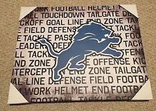 "Detroit Lions NFL Canvas Wall Art Poster 16"" x 20"" NEW"