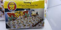 NIP Vintage 1987 Looney Tunes Tweety Comforter & Bed Sheets twin Set