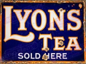 Vintage Metal Wall Sign - Lyons Tea Sold Here