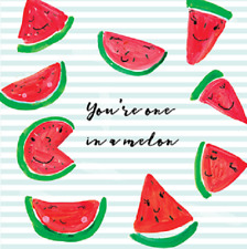 You're One In A Million Melon Greeting Card for Royal Trinity Hospice Charity
