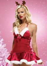 Leg Avenue Reindeer Games Sexy Miss Santa Christmas Fancy Dress Costume S/M 8-10