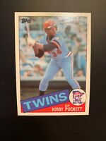 Kirby Puckett 1985 Topps Rookie Card #536 Minnesota Twins MLB Baseball