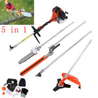 5 in 1 Cutting Multi Tools Garden Grass Trimmer Brush Cutter Hedge Chainsaw Pole