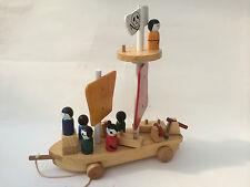 Piratenschiff Piratenboot Pirat Holzspielzeug Schiff Holz Boot Geschenk  Kinder