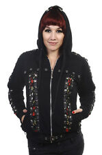 Skulls Roses Corset Gothic Punk Rockabilly Black Jacket Hoodie by BANNED Apparel S