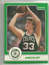 1984 Star Company Boston Celtics Larry Bird 18 card set