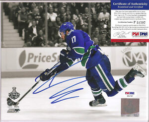 Ryan Kesler Vancouver Canucks Signed 8x10 Photo PSA DNA COA Autographed b