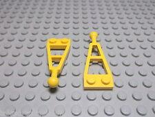 Lego 2 Deichsel mit Kugelkopf  gelb 1x2  2508 Set 7047 8437 5164 6667 6644