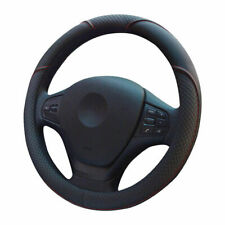 Fly5D Auto Car Steering Wheel Cover Universal 15 inch Durable PU Leather - Black