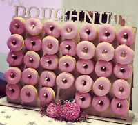 Y275 Donut Sweet Wall Stand Display Holder Birthday Wedding Wooden Board Party