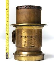 "Vintage 19thCen ""Enterprise"" Brass Lens EXC - Collodion See Pics - Magic Lantern"