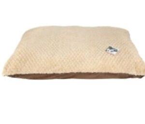 Dog Bed Mattress Brown Cream Faux Suede & Fleece 70cmx100cm BN Sharples & Grant
