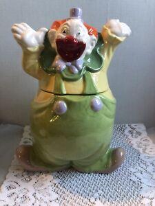Vintage Unmarked Clown Cookie Jar