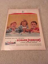 Original 1955 Howard Johnsons Ad