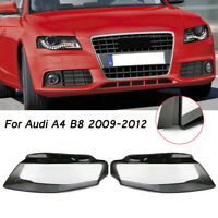 For Audi A4 09-12 B8 Left & Right Front Kit Cover Lens Headlight Headlamp