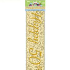 Happy 50th Golden Anniversary 12ft Party Banner Parties Banners Decorations