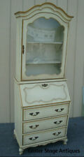 61969 Decorator Secretary Desk with Convex Bow Glass in Top
