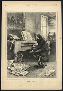 """THOMAS NAST CARTOON - HARPER'S - 6/15/1872 - """"PLAYED OUT"""" GRANT - 1872 ELECTIONS"""