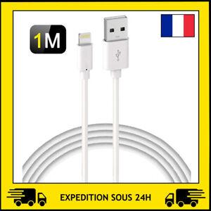 CABLE USB RENFORCÉ CHARGEUR RECHARGE SYNCHRO POUR IPHONE SE/5/6S/7/8/X/XS/XR/11
