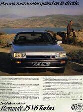 Publicité advertising 1986 Renault 25 V6 Turbo